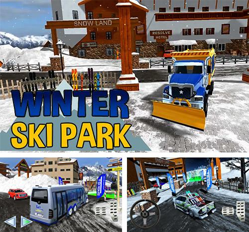 Winter ski park: Snow driver