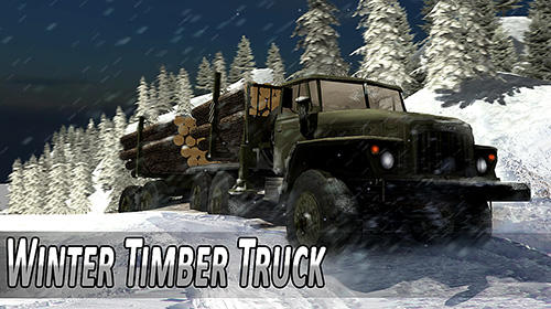 Winter timber truck simulator обложка