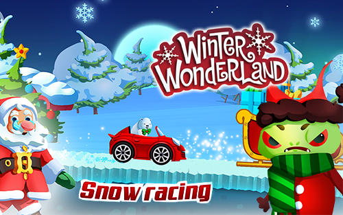 Winter wonderland: Snow racing poster