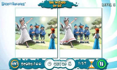 Capturas de pantalla de The wizard of Oz: Hidden difference para tabletas y teléfonos Android.