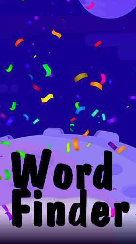 Word finder: Word stack, word link, word search poster