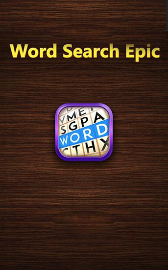 Word search epic poster