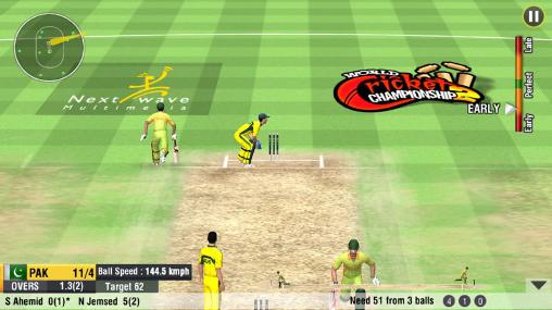 Геймплей World cricket championship 2 для Android телефону.