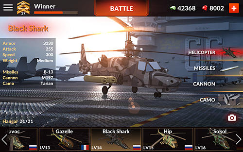 Screenshots von World of gunships für Android-Tablet, Smartphone.