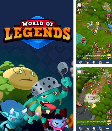Zusätzlich zum Spiel Epische Schnecken für Android-Telefone und Tablets können Sie auch kostenlos World of legends: Massive multiplayer roleplaying, Welt der Legenden: Massives Multiplayer-Rollenspiel herunterladen.