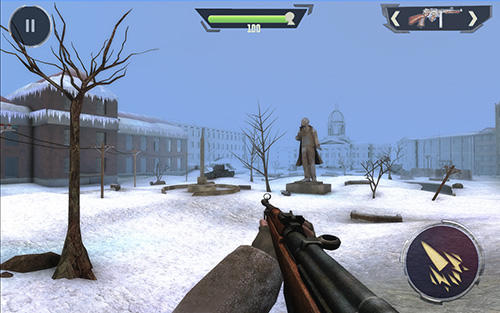 Kostenloses Android-Game World War 2: Überleben auf dem Schlachtfeld. Wintershooter 2. Vollversion der Android-apk-App Hirschjäger: Die World war 2: Battleground survival winter shooter 2 für Tablets und Telefone.