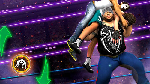 Геймплей Wrestling world mania: Wrestlemania revolution для Android телефону.