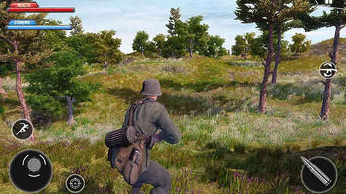 Screenshots von WW2 US army commando survival battlegrounds für Android-Tablet, Smartphone.