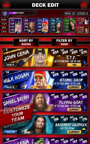Download WWE Super сard Android free game.