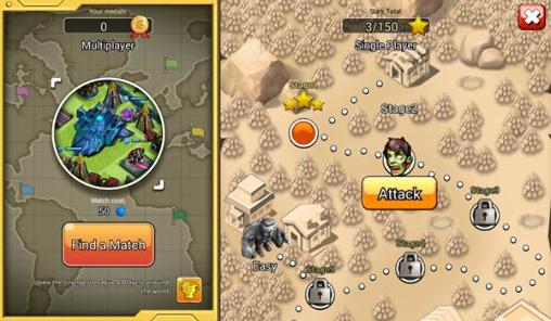 Android タブレット、携帯電話用X-war: Clash of zombiesのスクリーンショット。