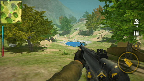 Screenshots of the Yalghaar game: Commando action 3D FPS gun shooter for Android tablet, phone.