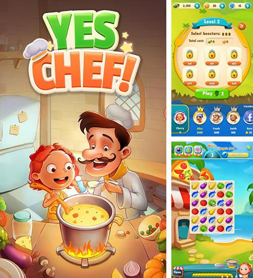 In addition to the game Jewels ninja for Android phones and tablets, you can also download Yes chef! for free.