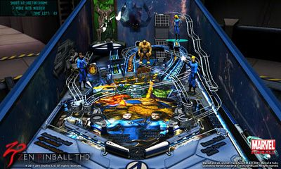 Screenshots of the Zen Pinball THD 3D for Android tablet, phone.