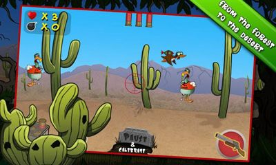 Screenshots of the Zombie Duck Hunt for Android tablet, phone.