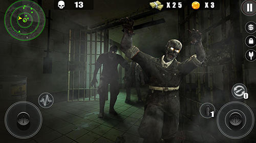 Android タブレット、携帯電話用Zombie Hitman: Survive from the death plagueのスクリーンショット。
