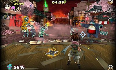 Screenshots of the Zombie Panic in Wonderland for Android tablet, phone.