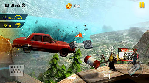 Screenshots of the Zombie road escape: Smash all the zombies on road for Android tablet, phone.