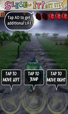 Screenshots of the Zombie Runaway for Android tablet, phone.