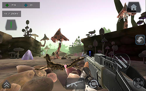 Kostenloses Android-Game Zombie Shooter: Weltkrieg. Sternenkampf. Vollversion der Android-apk-App Hirschjäger: Die Zombie shooter world war star battle gun 3D FPS für Tablets und Telefone.