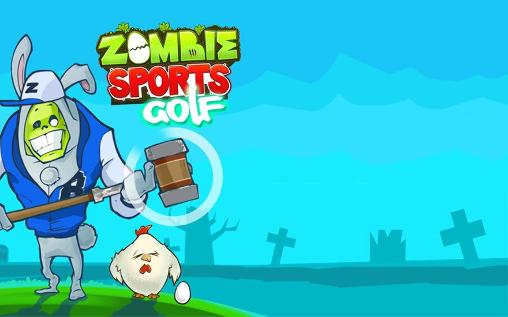 Zombie sports: Golf poster