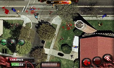 Screenshots of the Zombilution for Android tablet, phone.