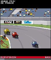 Mobil-Spiel Motocross GP Manager - Screenshots. Spielszene Moto GP manager.