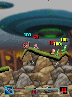 Mobile game Worms 2008 - screenshots. Gameplay Worms 2008.