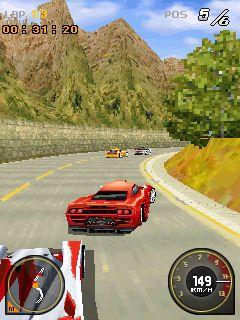 Jeu mobile Le Coureur GRID 3D - captures d'écran. Gameplay Race driver GRID 3D.