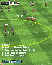 Mobile game Real Football 2008 3D + 2D - screenshots. Gameplay Real Football 2008 3D + 2D.