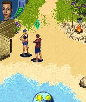 The Sims 2: Castaway Mobile手机游戏- 截图。The Sims 2: Castaway Mobile游戏。