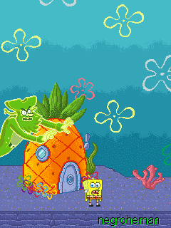 Download free mobile game: Bob Sponge: Bikini Bottom Pursuit - download free games for mobile phone.