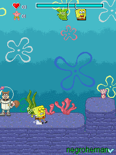 Mobile game Bob Sponge: Bikini Bottom Pursuit - screenshots. Gameplay Bob Sponge: Bikini Bottom Pursuit.