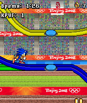 Mobile game Sonic At The Olympic Games 2008 - screenshots. Gameplay Sonic At The Olympic Games 2008.