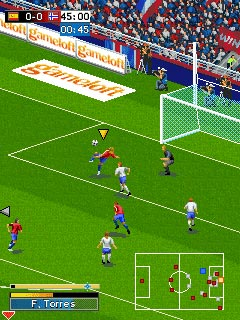 Download free game for mobile phone: Real Football 2009 Bluetooth - download mobile games for free.