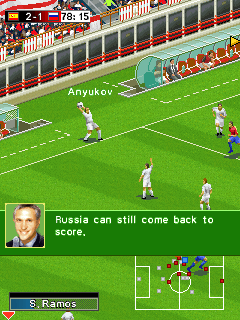 Скриншот java игры Real Football 2009 Bluetooth. Игровой процесс.