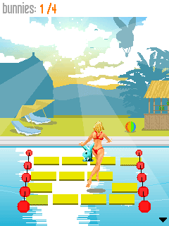 Скриншот java игры Playboy Games: Pool Party. Игровой процесс.