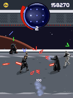 Скриншот java игры Star Wars:The Force Unleashed. Игровой процесс.