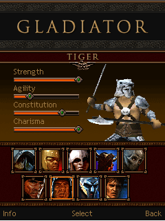 Download free Gladiator - java game for mobile phone. Download Gladiator