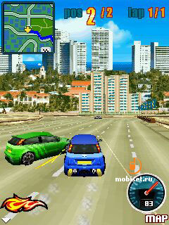 Jeu mobile Les Courses de Rues Nitro - captures d'écran. Gameplay Nitro Street Racing.