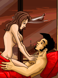 Jeu mobile Jack le Salaud: Le Sex en Avion - captures d'écran. Gameplay Dirty Jack: Sех in Airplane.