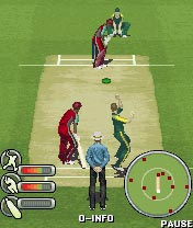 Jeu mobile Le Cricket: Ricky Pointing 2008 - captures d'écran. Gameplay Ricky Ponting 2008.