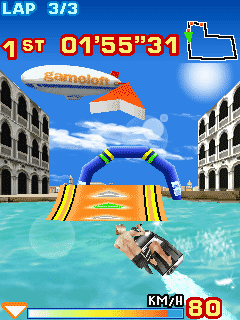 Jeu mobile Le Motomarine Turbo 3D - captures d'écran. Gameplay Turbo Jet Ski 3D.