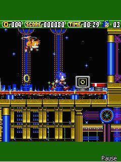 Скриншот java игры Sonic the Hedgehog 2 Dash. Игровой процесс.