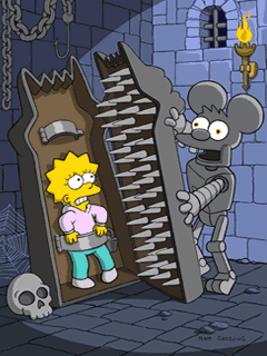 The Simpsons 2: Itchy & Scratchy Land手机游戏- 截图。The Simpsons 2: Itchy & Scratchy Land游戏。