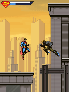 Скріншот java гри Superman & Batman: Heroes United. Ігровий процес.