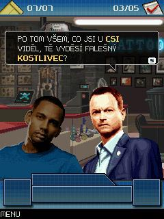 Mobil-Spiel CSI (Computer Security Institute): New York. The mobile game - Screenshots. Spielszene CSI: New York. The mobile game.