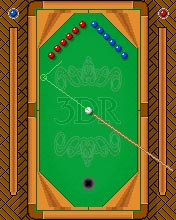 Скріншот java гри Ace billiard. Ігровий процес.