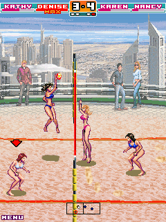Mobil-Spiel Bikini Volleyball - Screenshots. Spielszene Bikini Volleyball.