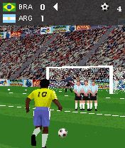 Jeu mobile Les Kicks Gratuits 3D - captures d'écran. Gameplay 3D Free Kick Football.