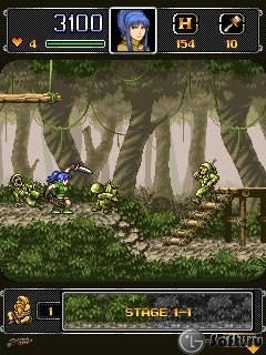 Скриншот java игры Metal Slug 4 Mobile. Игровой процесс.